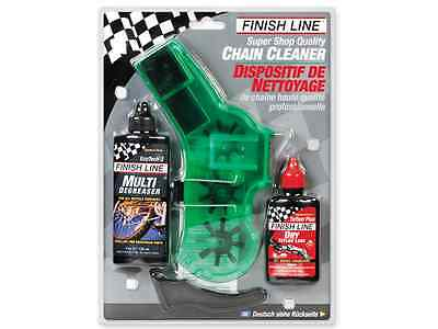 Finish Line Bike Bicycle Pro Chain Cleaner Kit W/ Dry Lube & Degreaser New