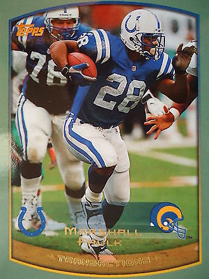 NFL 40 Marshall Faulk Indianapolis Colts Transactions Topps 1999