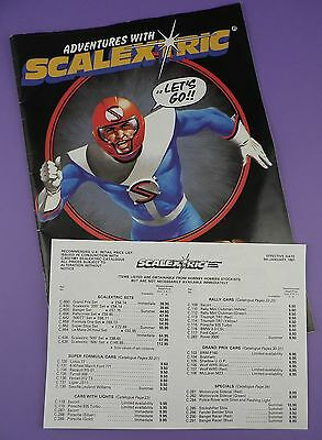 Scalextric  - 1981 Catalogue & Price List With Comic Strip - Ian Kennedy Art