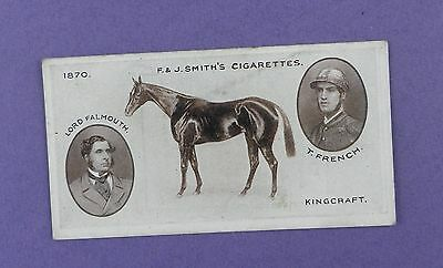 Smith's Cigarette Card - Derby Winners 1913, #7 KINGCRAFT