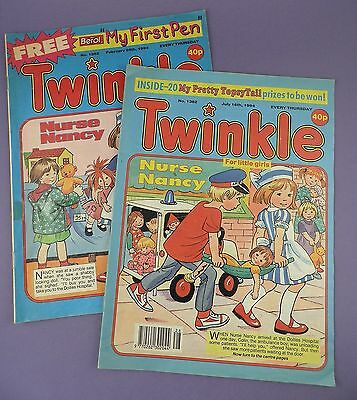 Twinkle For Little Girls - Pair of  of Vintage Comics 1994