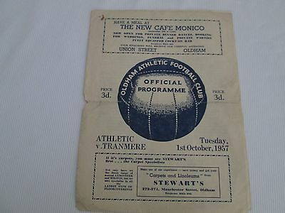1957-58 DIV 3 OLDHAM ATHLETIC v TRANMERE ROVERS