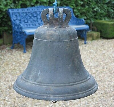 Reclaimed Bronze Church Bell with Clapper - Antique Old Calling Bell