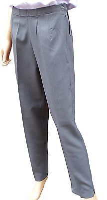 """CATHEDRAL Grey Showerproof Coated Soft Polyester Bowling Trousers Sz 12 ILeg 29"""""""