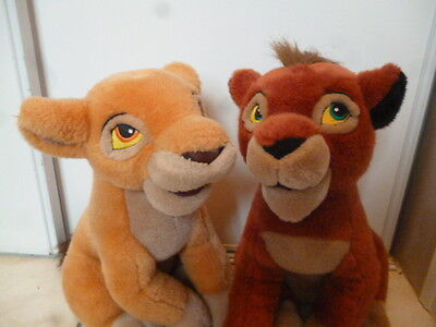 Couple peluche plush Kovu et Kiara walt disney Le Roi Lion ( the lion king )