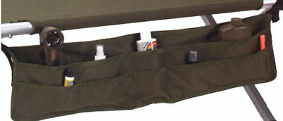 Cot Accessory Pouch - Cotton Canvas Holds Personal Toiletry Items - OLIVE DRAB