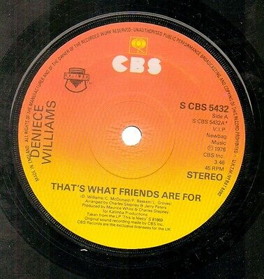 Deniece Williams - That's What Friends Are For - Vinyl 45' Record