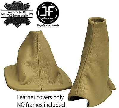 Beige Leather Automatic Gaiter Set For Land Rover Discovery 200Tdi 300Tdi Td5 V8