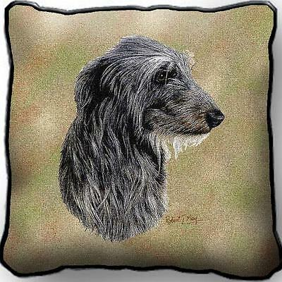 "17"" x 17"" Pillow - Scottish Deerhound by Robert May 3325"