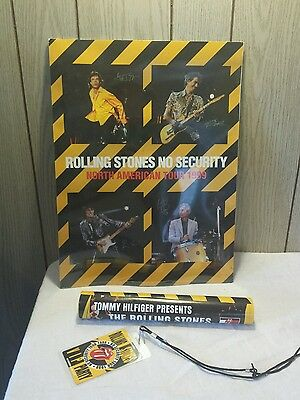 Rolling Stones No Security tour poster & VIP shoestring party pass music lot
