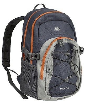 ��Trespass Albus School Work Backpack Bag Rucksack Grey/black/flint 30L