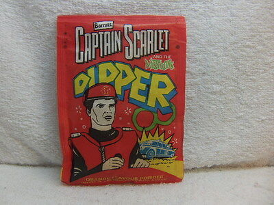 Captain Scarlet  Barratt Sherbet Dipper 1994 unopened trebor sweet packet