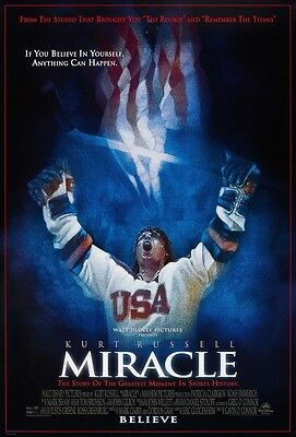 Miracle movie poster - Kurt Russell poster 11 x 17 inches - Ice Hockey