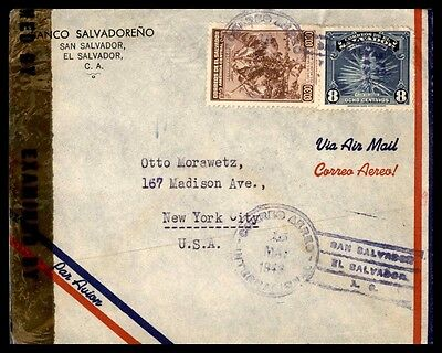 El Salvador 1943 Banco Salvadoreno San Salvador El Salvador May 15 1943 Air Mail