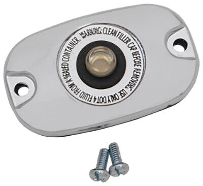 HardDrive Rear Master Brake Cylinder Cover For Harley- Davidson Chrome 053742