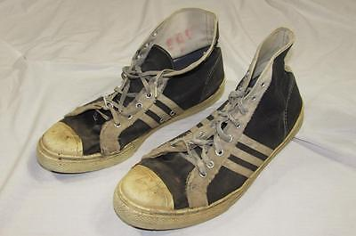 Vtg 50s 60s Chargers USA Made Canvas Tennis Basketball Shoes Rubber Rare