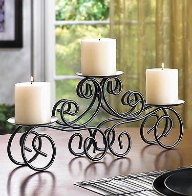 CANDLE HOLDER: Wrought Iron Tuscan Centerpiece NEW