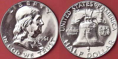 Proof 1961P US Franklin Silver 50 Cents From Mint's Set