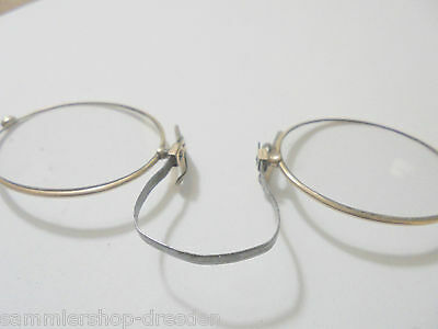 27068 Alte Brille, Kneifer, um 1900 Double Optikel  Double Stahl
