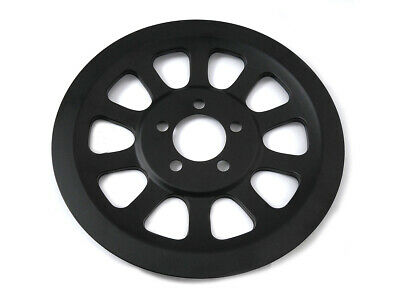 Outer Pulley Cover 70 Tooth Black,for Harley Davidson motorcycles,by V-Twin