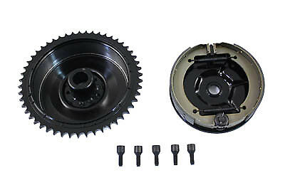 Rear Mechanical Brake Drum Kit Black,for Harley Davidson motorcycles,by V-Twin