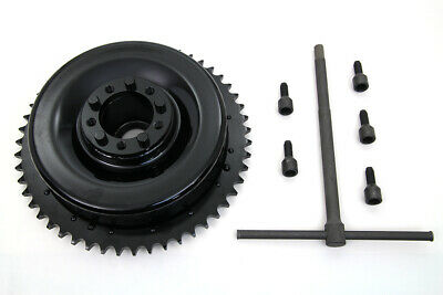 Rear Mechanical Brake Drum Black with Sprocket fits Harley Davidson,V-Twin 23...