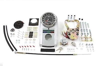 Chrome Dash Panel Kit with 1:1 Ratio Speedometer,for Harley Davidson motorcyc...