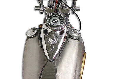 Chrome Cateye Dash Panel Kit with 2:1 Ratio Speedometer,for Harley Davidson m...