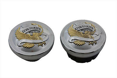 Live to Ride Vented and Non-Vented Gas Cap Set,for Harley Davidson motorcycle...