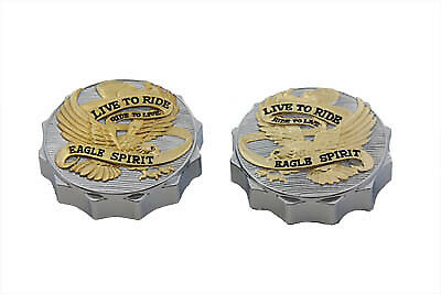 Eagle Spirit Gas Cap Set Vented and Non-Vented,for Harley Davidson motorcycle...