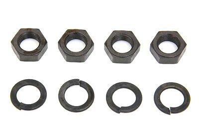 Rocker Arm Shaft Parkerized End Nut Kit fits Harley Davidson,V-Twin 9842-8