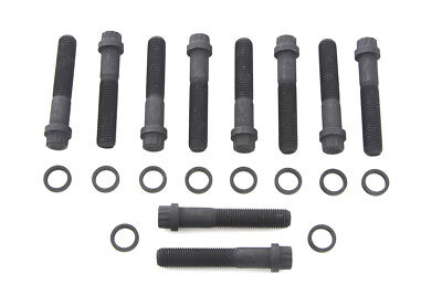 Cylinder Head Bolt Set 12 Point Black fits Harley Davidson,V-Twin 8618-20