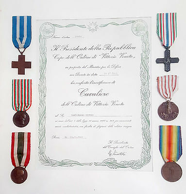 Italy wwI  medals of honor in original period  6 MEDAL