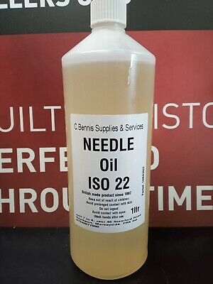 1 Ltr  KNITTING / SEWING MACHINE OIL FINE GRADE ISO22 XMAS SPECIAL PRICE