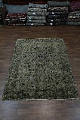 Antique Washed Faded Muted Tabriz Persian Oriental Area Rug Carpet Sale 7X10