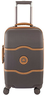 """Delsey Luggage Chatelet Hard+ 21"""" Carry On Spinner Suitcase - Brown"""