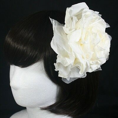 2 Colors Flower Hair Clip Accessory Brooch Unique Fascinator Wedding Bridal Hat