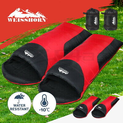 Double Camping Envelope Twin Sleeping Bag Thermal Tent Hiking Winter -10° C