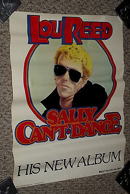 rare ORG 1974 LOU REED SALLY CAN'T DANCE RCA PROMO POSTER record store DISPLAY