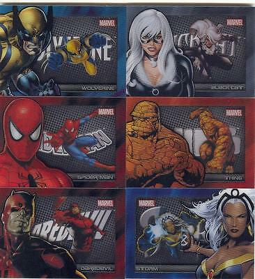 2014 Marvel Universe Shadowbox Card Set Of 6! MINT! RARE! Wolverine Daredevil!