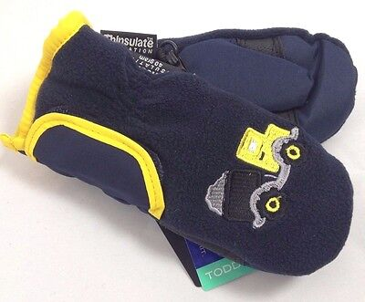 Baby Child Kids Toddlers Ski Winter Fleece Mittens Gloves NWT 2 - 4 Years #87137