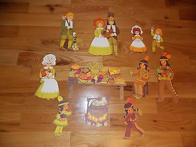Thanksgiving Die Cut Decoration Set Pilgrims Native Americans