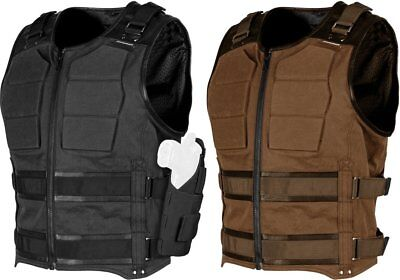 Speed & Strength Mens True Grit Armored Textile Riding Vest