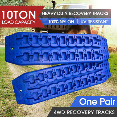 2pc NEW 10T Pair Recovery Tracks Sand Track Sand / Snow / Mud Trax 4WD Blue AU