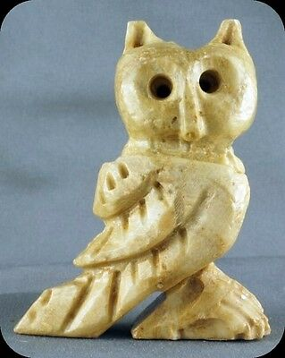 Vintage Small Stone Owl Figurine Not Signed
