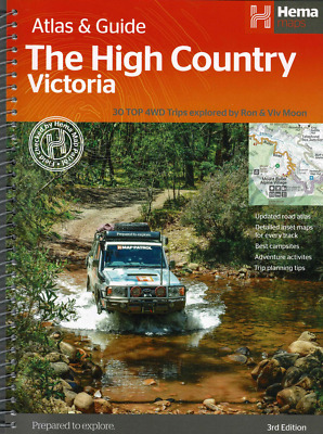 Hema Maps High Country Atlas & Guide - Camping - Trails - 4Wd - Fishing