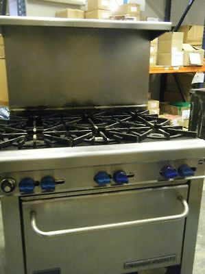 Commercial Montague Grizzly 6 Gas Burner & Gas Oven Catering Cooker