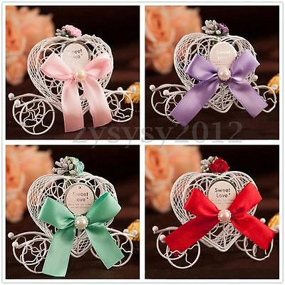 1/5pcs Heart Carriage Candy Chocolate Boxes Birthday Wedding Party Favour Gift