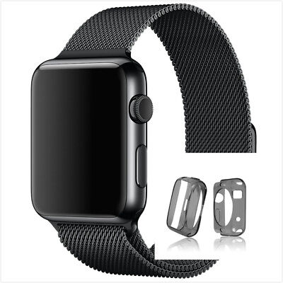 Milanese Black Magnetic Stainless For Apple Watch Band  38mm Clear Black