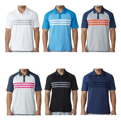 Adidas Golf 2017 Climacool 3 Stripes Competition Men's Polo Shirt WAS £29.95!